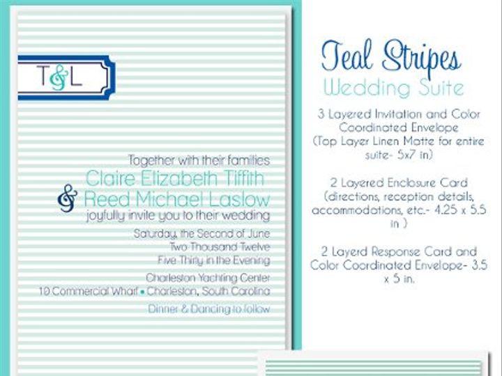 Tmx 1329357478061 Tealstripes22 Isle Of Palms wedding invitation