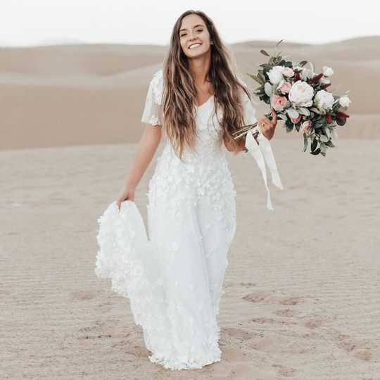 Bohemian lace gown