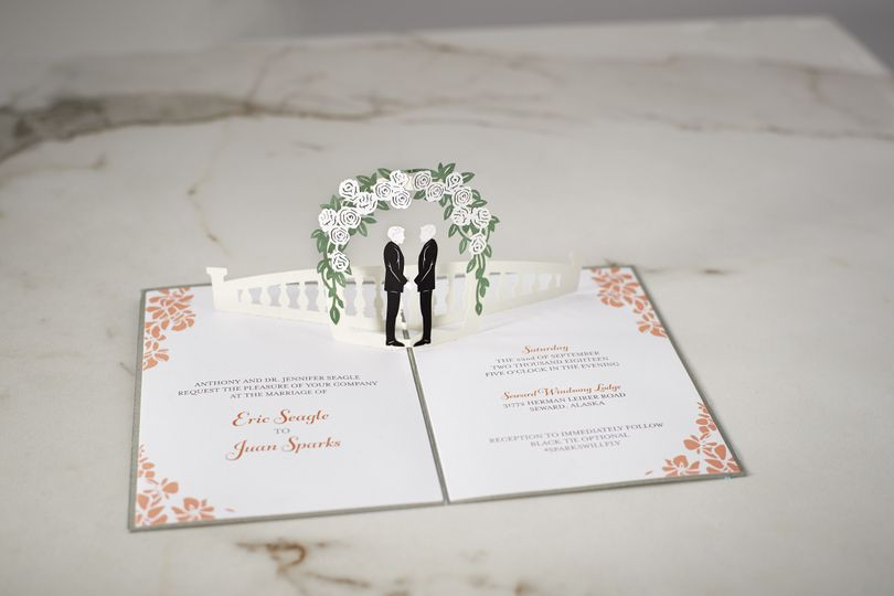 Laser cut wedding ceremony