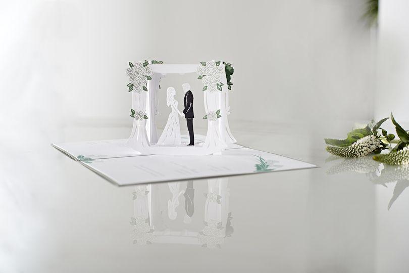 Laser cut wedding ceremony card