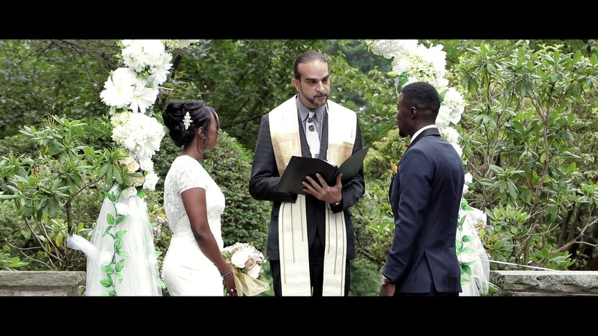 The ceremony (Faduma and Jeffrey's wedding)