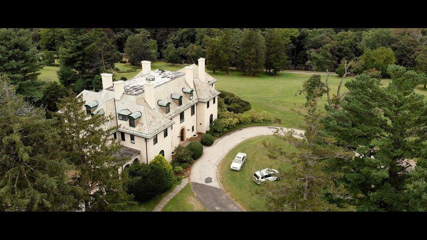 A drone-shot of the venue (Faduma and Jeffrey's wedding)
