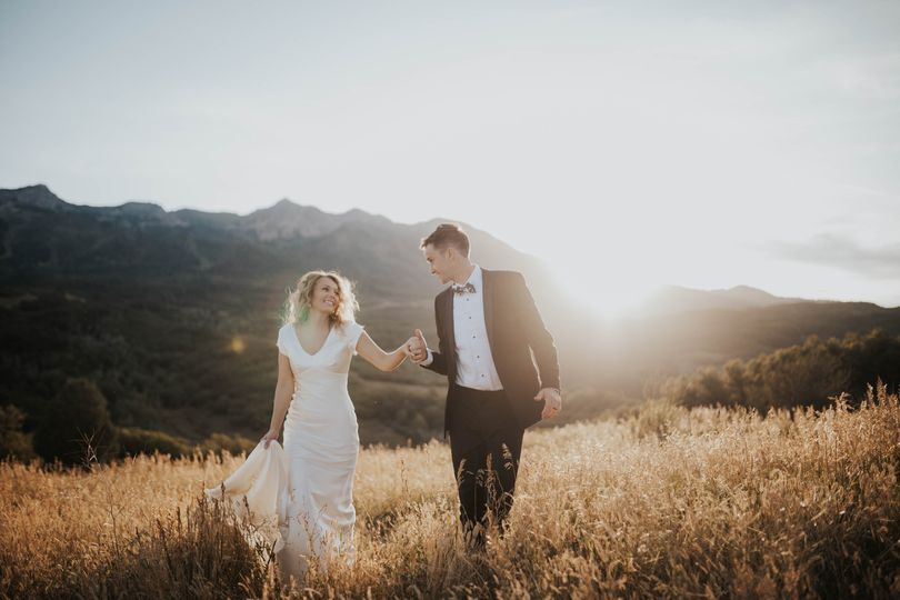 SLC bride and groom