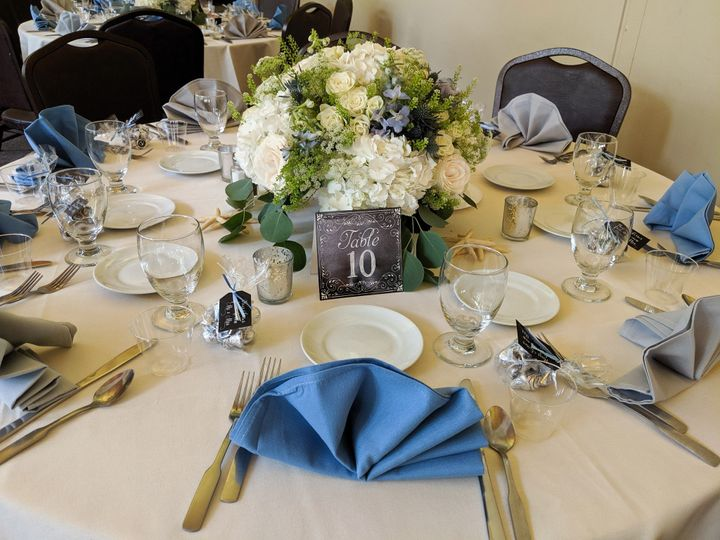Table Setting at Woodlawn Beac