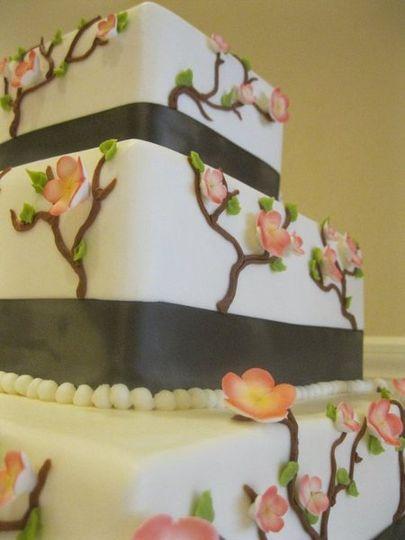 Floral decor cake