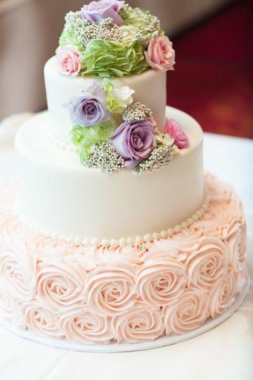 Three layered cake