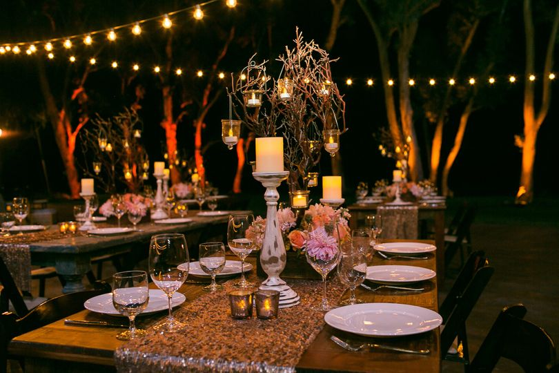 Tablescapes and string lights