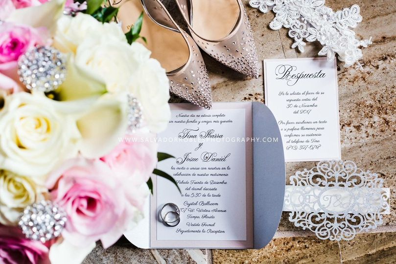 Wedding pocket invitation