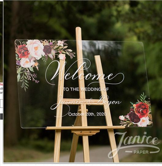 Acrylic wedding Welcomes