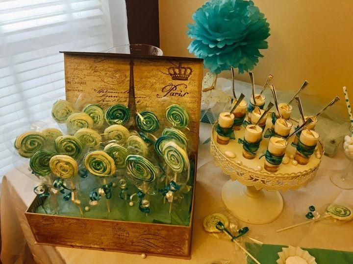 Meringue lollipops & Lime charlotte shots