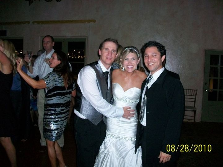 The Bride & Groom having fun at their reception, thanks to DJ Val.