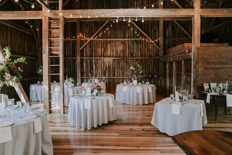 Barn reception setup
