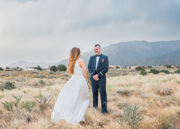 First Look - Intimate Wedding