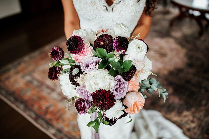 Merlot and Blush Bouquet