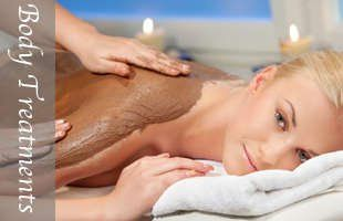 Professional skincare body treatments available.