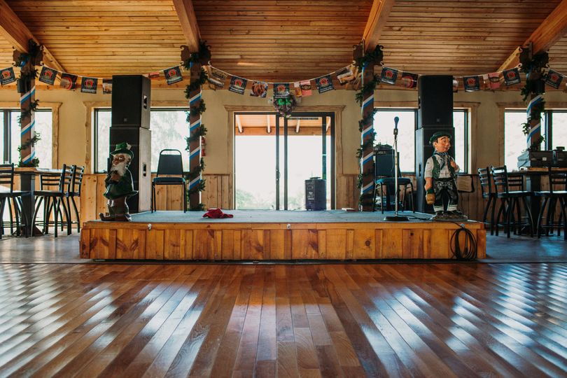 Stage inside the lodge