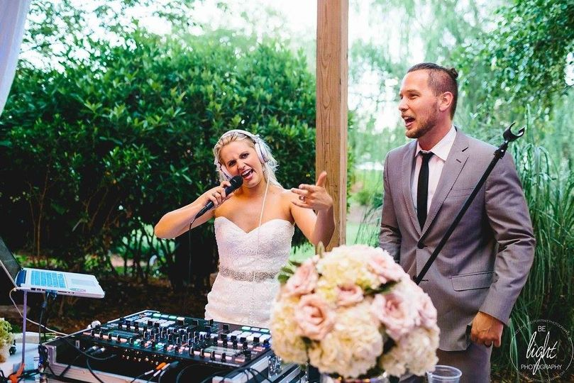 The bride wanted to sing a song...