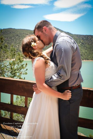 First Kiss before ceremony