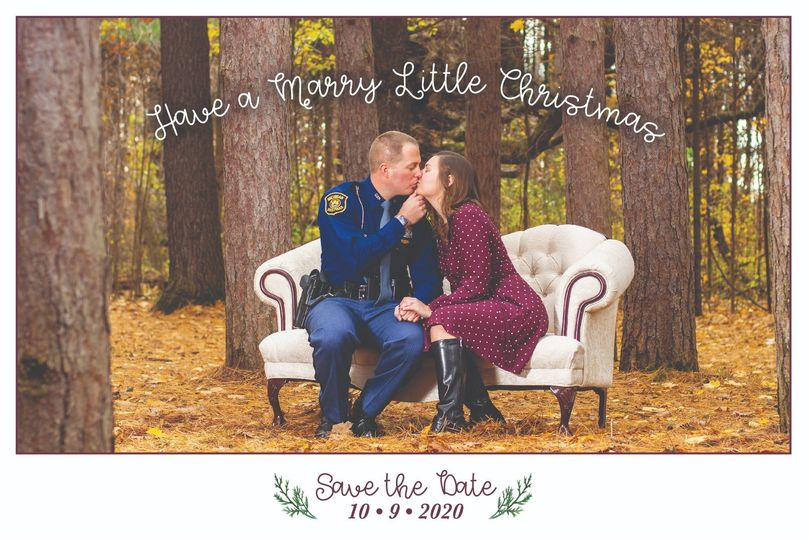 Christmas-themed Save the Date
