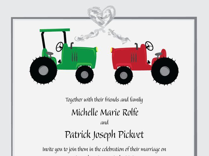Tmx 1425049426129 Wedding Invite With Text 01 Grand Rapids, MI wedding invitation