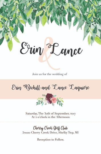 Wedding Invitation Option