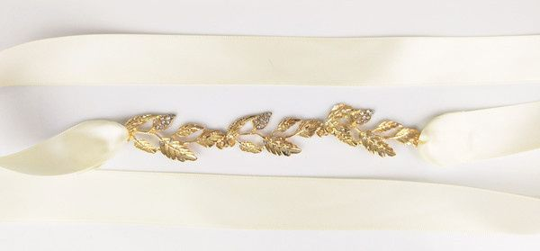 headpiece gold olive leaves pic1