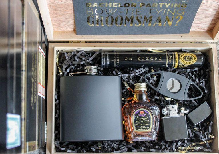 Best Man/Groomsman Gift Box - Black