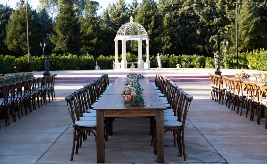 Olive Grove with Farm Tables
