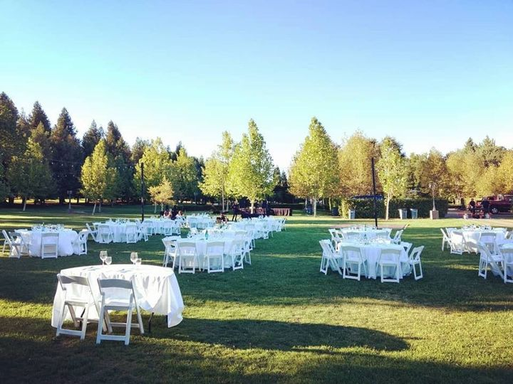 Yin Ranch - outdoor reception setup