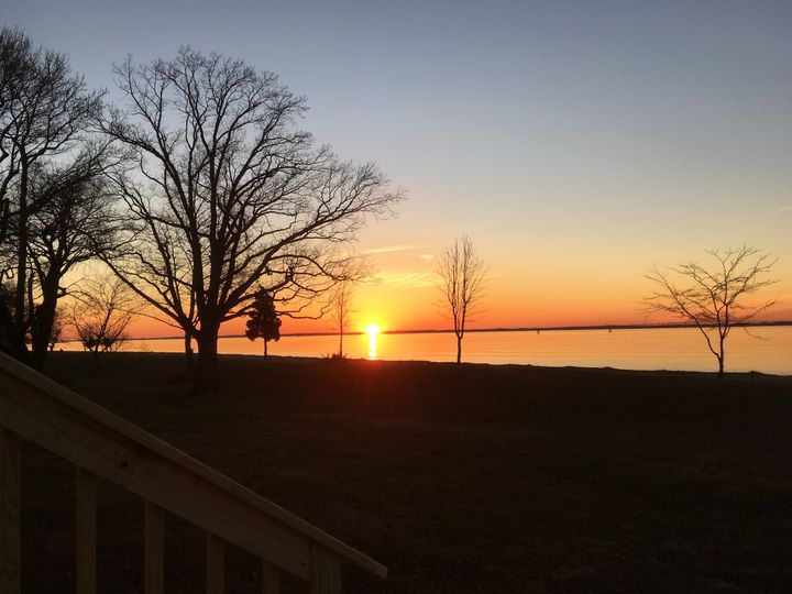 Year round awesome sunsets on the west coast of New Jersey, Delaware River Bay.