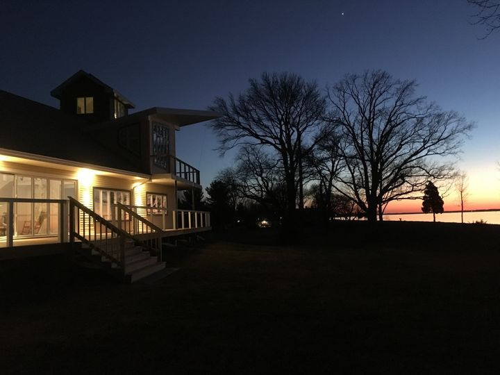 Evening view of the Riverside of The Inn. Come and explore the options for indoor and outdoor...