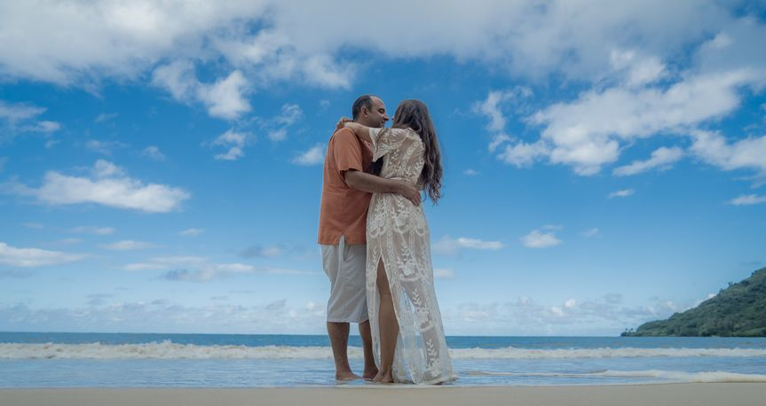 Secluded Beach Engagement