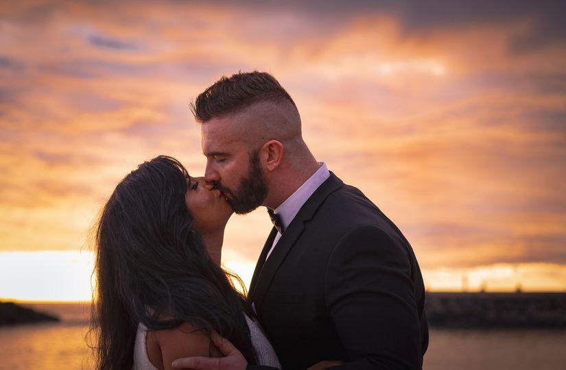 Romantic Sunset Engagement