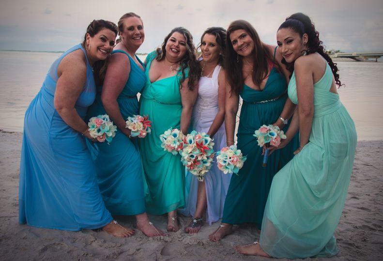 The ladies in blue