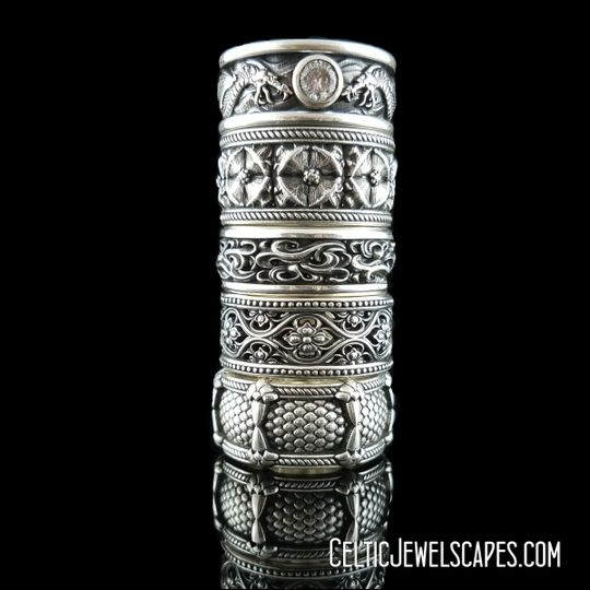 Celtic Jewelscapes stack of rings