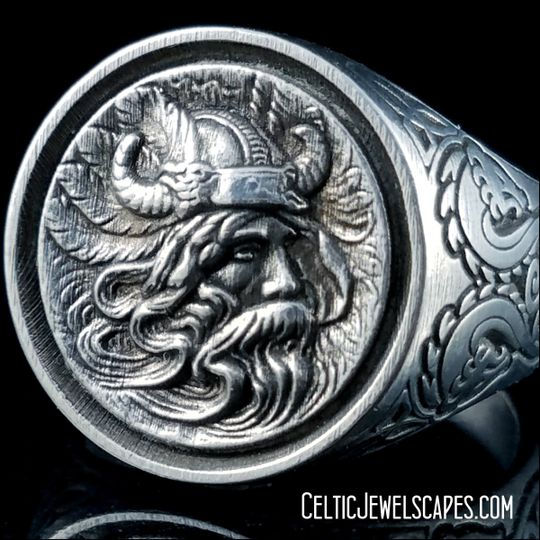 The Viking Odin in Antique 14KT White Gold