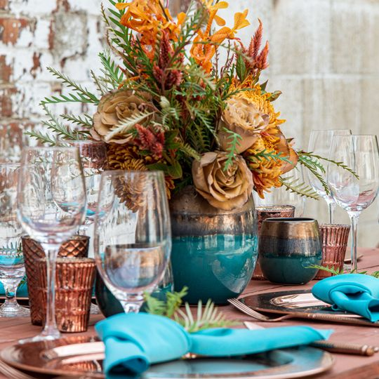 Copper and Teal