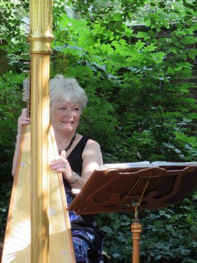 Harp in the gardens at uva