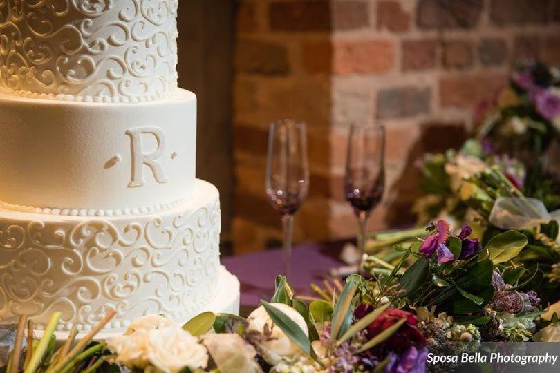 Pattern pumpings on cake