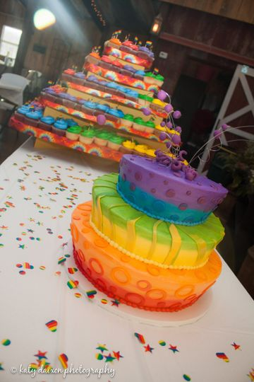 Rainbow cake for a fun celebration!