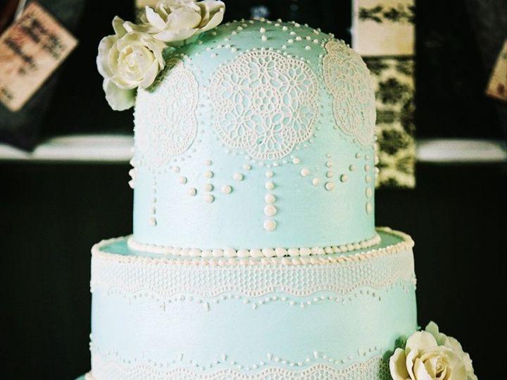 Tmx 1474902262007 Blue Lace Cake Whitewater wedding cake