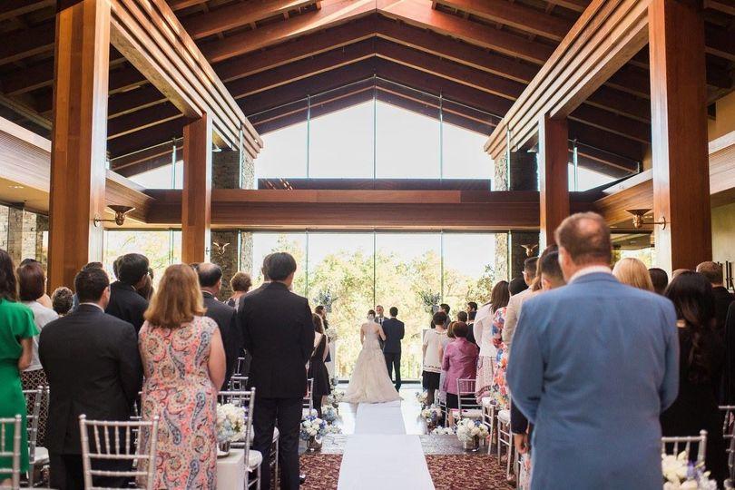 Beautiful indoor ceremony