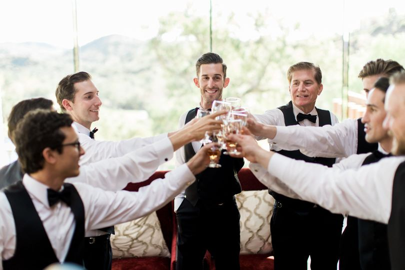 Groomsmen toast to the occasion