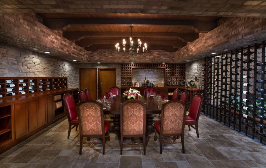 Wine room great for rehearsal dinners