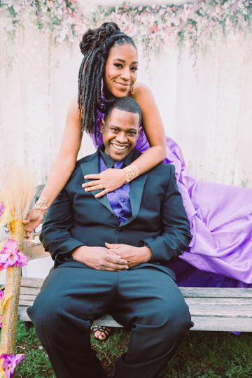 Purple and Gold Wedding