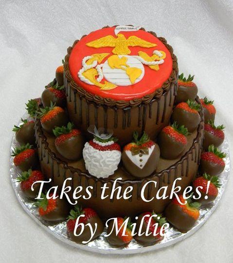 Terrific Takes The Cakes By Millie Wedding Cake Plano Tx Weddingwire Funny Birthday Cards Online Amentibdeldamsfinfo