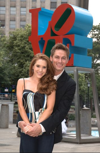 "An engagement photo shoot in ""Love Park"" of course!"
