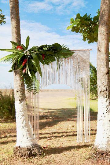 Tudor wedding backdrop