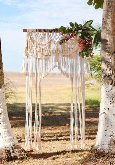 Marrakesh wedding backdrop