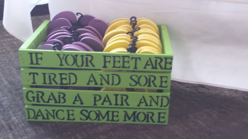 Great idea for tired feet - loose the heels!